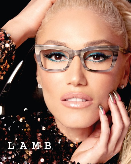 Gwen Stefani wearing LA046 Bone Grey Photo Credit: Tura Eyewear