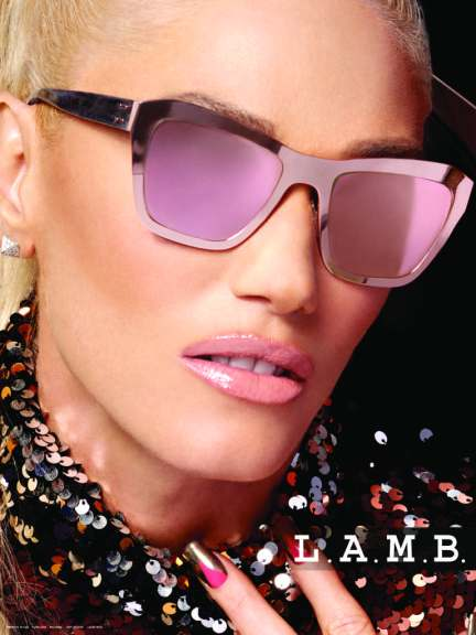 Gwen Stefani wearing LA539 Rose Gold Photo Credit: Tura Eyewear